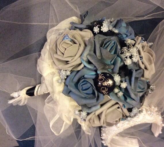 CORPSE BRIDE Wedding Flower Bouquet-Bridal Flower-Brides