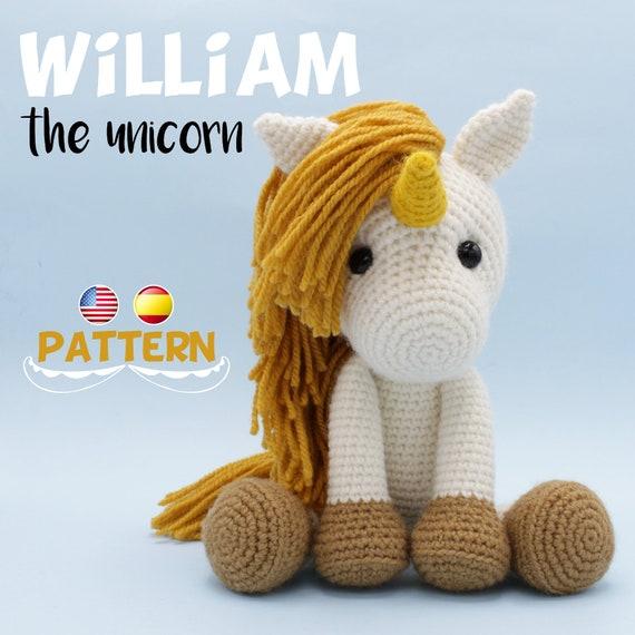 Patrón crochet Unicornio Amigurumi Unicornio pdf tutorial