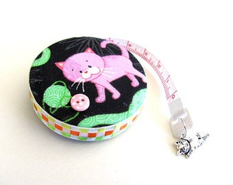 Tape Measure Pastel Pink Cats Retractable Measuring Tape