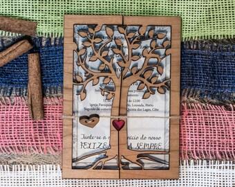 Custom wedding invitation set, rustic wedding invitation, vintage invitation, barn invitation rustic style, wooden invite, country handmade
