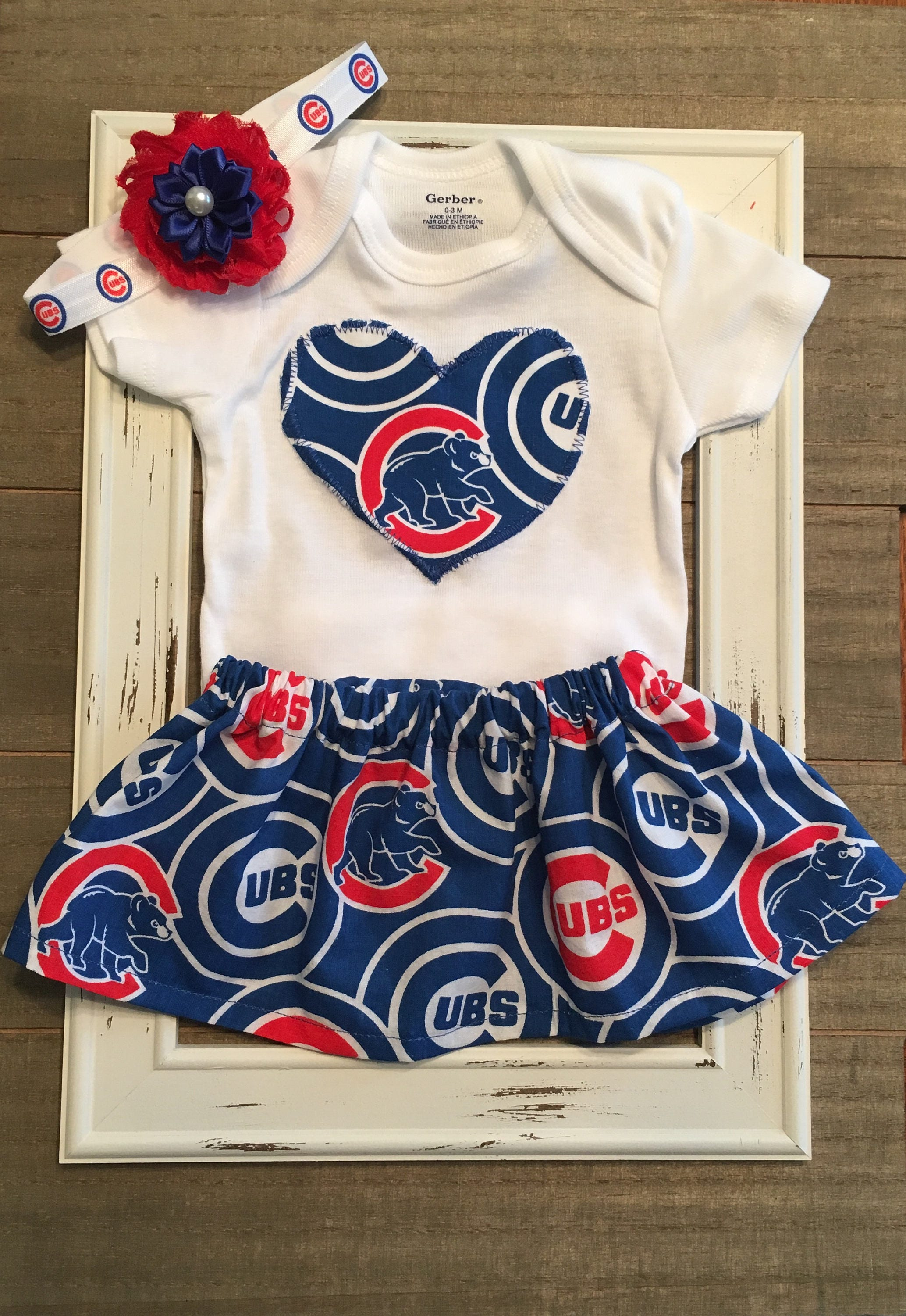 Chicago Cubs Outfit Chicago Cubs Baby Skirt Chicago Cubs