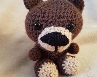 Crochet teddy bear. Crochet animal gift