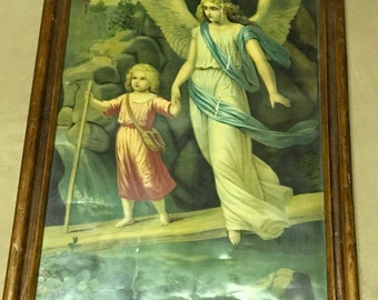 Guardian Angel picture from old farmhouse 30's