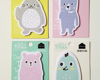Totoro Tutula cute kawaii kitsch post its sticky notes stick markers