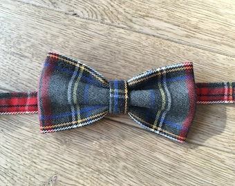 Bow tie - grey Plaid