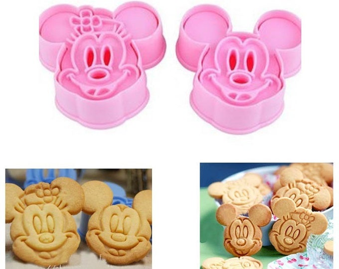 Mickey Minnie Mouse Cookie Cutter Mold Set