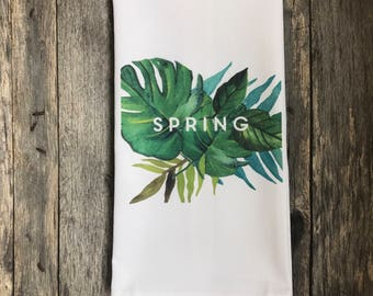 Palm Branch Spring Tea Towel