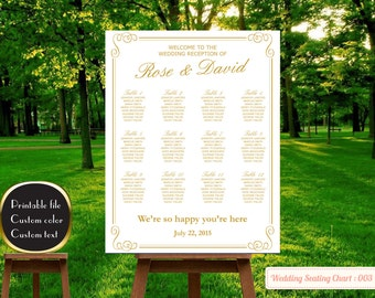 PRINTABLE Large Wedding Seating Chart, Wedding Reception Sign with Chalkboard Background, Find Your Seat Personalized Wedding Table Chart