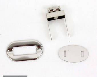 Set of 5 32 * 17 mm silver purse clasp