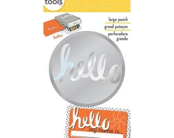 HELLO Large Slim Profile Paper Punch - EK Success
