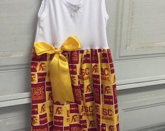 A  beautiful USC Trojans dress