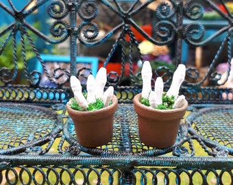 Miniature 1:12, calavera fingers in pot, great to decorate our witch and wizard houses or magic stores.