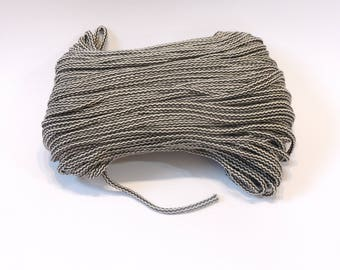 Macrame white-brown zigzag multicolor cotton cord 100 m (110 yd) 5 mm (0,2 in), cotton rope, macrame cord
