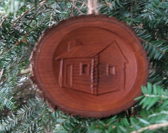 Log Cabin Ornament