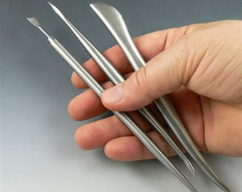 The best sculpting tools ever, set of 3 stainless steel designed with Christi Friesen