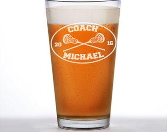 Lacrosse, Lacrosse coach, Lacrosse coach gift, Coach gift, Coach beer glass, Lacrosse gifts, Lacrosse team, Lacrosse sticks, LAX