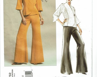 Vogue Pattern 2752 Misses/Misses' Petite Jacket and Pants Size 8-12 UNCUT