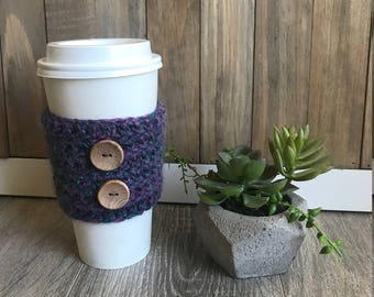Purple & Turquoise Cup Cozy