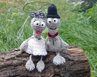 Gift for wedding for couple bride and groom halloween decor ghost Gift for pair Halloween toy wedding Funny toys Married couple Spooky bones