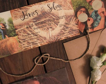 Tying the knot-rustic participation with photos