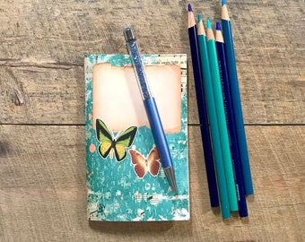 Teal Butterfly Travelers Notebook Insert - Midori Insert - TN Insert - Scrapbooking Insert - Planning Insert  - Art Insert - Various Sizes