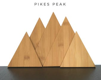 The Rocky Mountains Collection, Pikes Peak Triangle Cutting Boards, Colorado, Modern Kitchen, Eco Friendly, Mountain Decor, Kitchen Decor