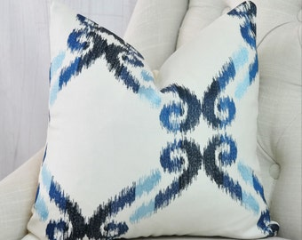 Blue Pillow Cover Geometric Decorative Throw Pillows Sofa Cushion Cover 18x18 20x20 22x22 24x24 26x26