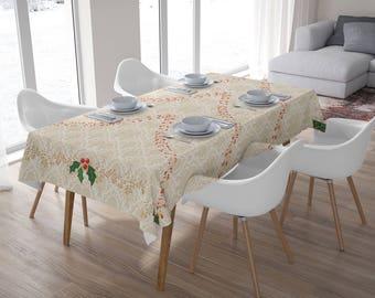 Christmas Tablecloth,Tablecloth Rectangle,Tablecloth Square,Festive tablecloth,Christmas Giff,Home Decor