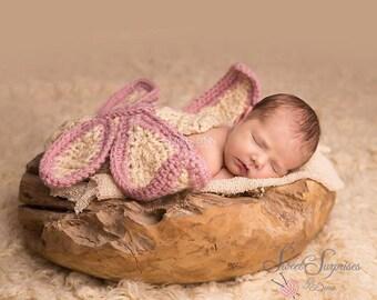 Crochet Butterfly Set Newborn MADE TO ORDER Photography Prop
