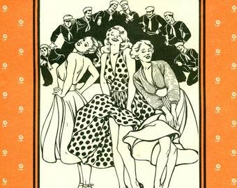 Folkwear 239 BLONDE BOMBSHELL Marilyn Halter Style Dress w/ Sweater Sizes 6 - 16 Bust 30 1/2 - 38 FIFTIES Era Costume