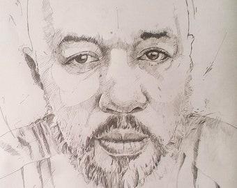 Pencil portraits done in graphite pencil. Portrait commissions.