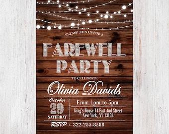 Rustic Farewell Invitation, Farewell Party Invitation, Farewell Invitation, Rustic Farewell Party Invitation, Retirement Invitation 192