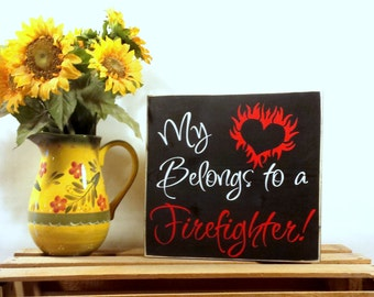 Firefighter Home - Firefighter - Firefighter Gift - Firefighter Wife - Firefighter Decor - Fireman Gift - Firefighter Sign - Firefighter Wed