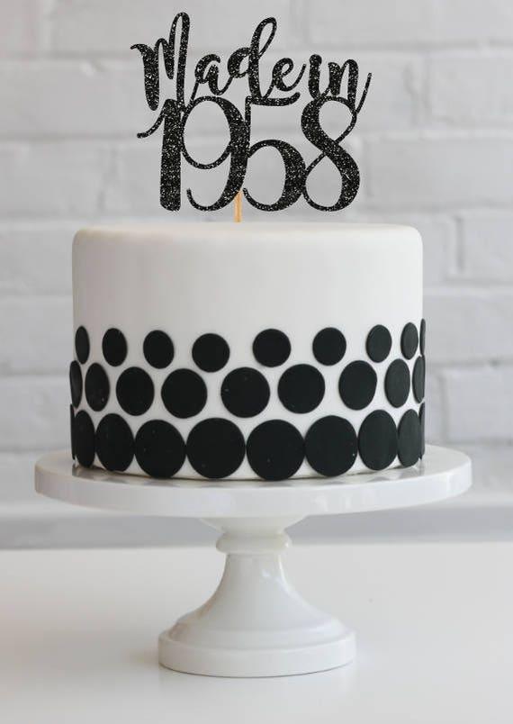60th Birthday Cake Topper 60th Birthday Decorations Vintage
