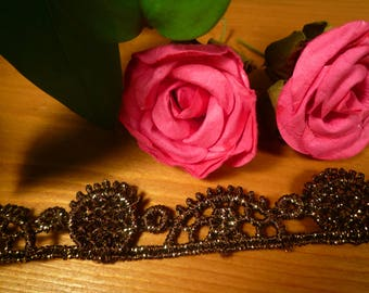 Small lace antique old gold lace/0.35 m