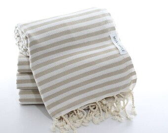 Mediterranean   Beach Towel   Beige   Bath Towel   Bridesmaid Gift   Turkish Towel   Bridesmaid Towel   Beach Blanket    Wedding Gift