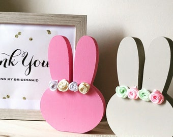 Freestanding Bridesmaid Bunny Shelfie