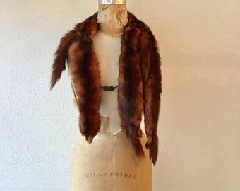 Menzel wrap   Vintage copper mink wrap wrap   1940s mink fur stole