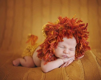 baby lion hat , baby lion set, lion photo prop , photography props , baby boy hats , animal hats
