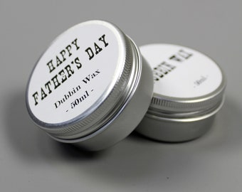 Personalised leather dubbin wax gift mens womens corporate luggage wedding favors fathers day present personalized
