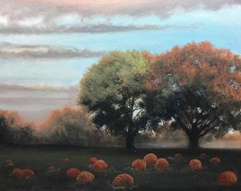 Pumpkin Patch - Oil Painting