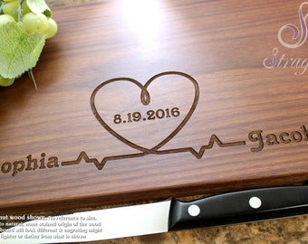 Personalized Engraved Cutting Board - Wedding Gift, Anniversary Gift, Valentine's Day, For Her, For Him, Gift For Couple. 214