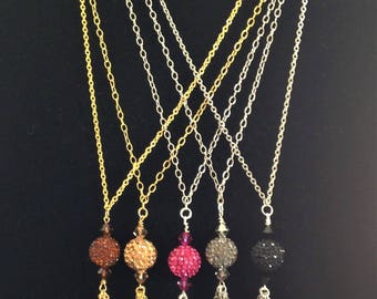 Pave Swarovski Crystal 24 inch Necklaces
