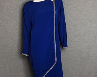 LILLIE RUBIN Jeweled Dress Size: 6