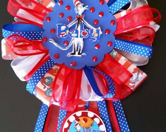 Baby Shower Corsage, Dr. Seuss Baby Shower, Mother to be Corsage