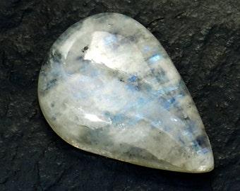 Rainbow Moonstone Cabochon Stone (22mm x 15mm x 6mm) 14.5cts - Drop Cabochon - Teardrop Moonstone