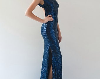Anastasia Backless Sequin Gown