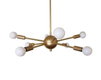 Atomic 8 Arm Starburst Sputnik Ceiling Light UL Listed