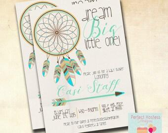 Boy Boho Dream Catcher Baby Shower Invitation
