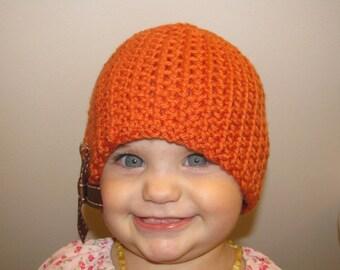 Autumn Harvest Stitches & Bows Child's Hat